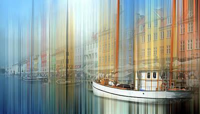 Photograph - Ny Havn Boats by Jeff Brunton