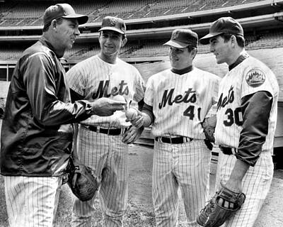 Sports Photograph - N.y. Mets Manager Gil Hodges Sports A by New York Daily News Archive