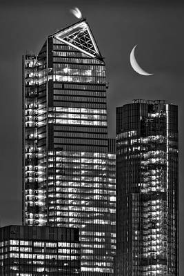 Photograph - Nyc Hudson Yards Skyscrapers Bw by Susan Candelario