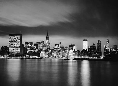 Photograph - Nyc Skyline At Night by George Marks