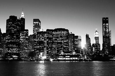 Cityscapes Photograph - Nyc Skyline At Sunset by Lisa-blue