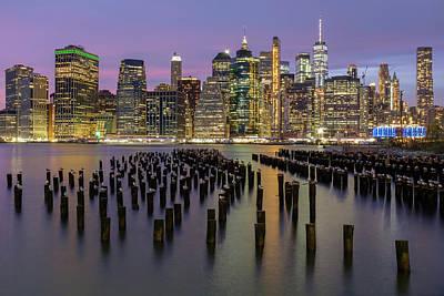 Photograph - New York City Skyline During Sunset by Doug Ash