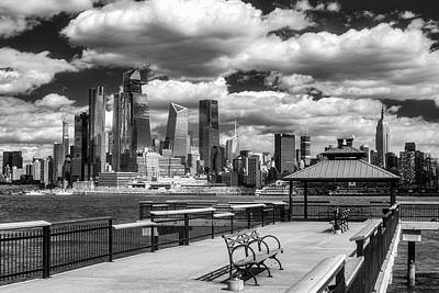 Photograph - Nyc Skyline Hudson Yards Ir by Susan Candelario