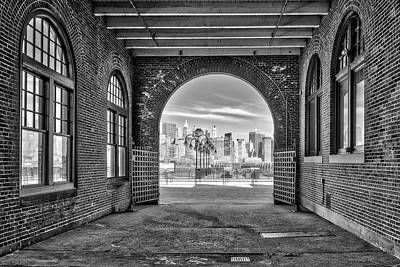 Photograph - Nyc Skyline View Bw by Susan Candelario
