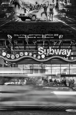 Photograph - Nyc Subway Stations Bw by Susan Candelario