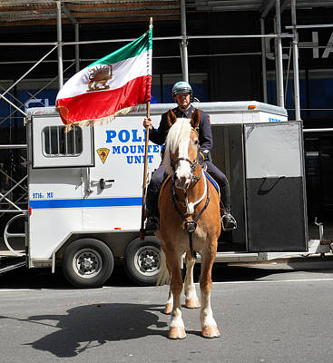 Photograph - Nypd Mounted Unit 1 by Andrew Fare