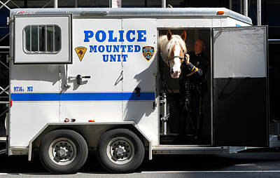 Photograph - Nypd Mounted Unit 2 by Andrew Fare