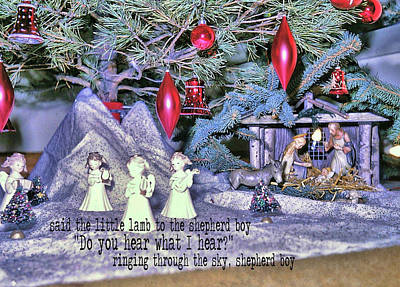 Photograph - O Holy Night Quote by JAMART Photography