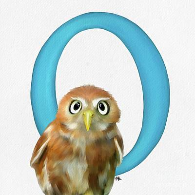 Painting - O Is For Owl by Tammy Lee Bradley