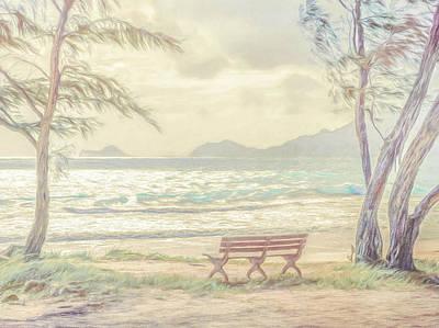 Digital Art - Oahu Morning 69x92 by Steven Sparks