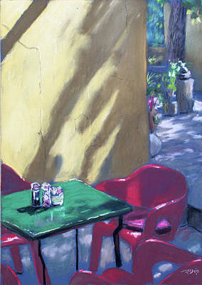 Painting - Oak And Vigne Cafe by Christopher Reid