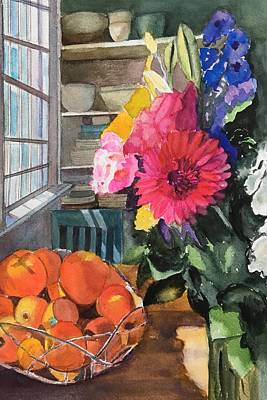 Painting - Oak Bluffs Kitchen by Lynne Atwood