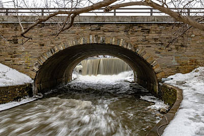 Photograph - Oak Creek Mill Pond Waterfall by Randy Scherkenbach