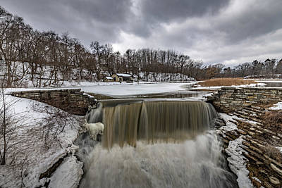 Photograph - Oak Creek Parkway Waterfall by Randy Scherkenbach