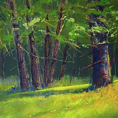 Painting - Oak Forest Landscape by Nancy Merkle
