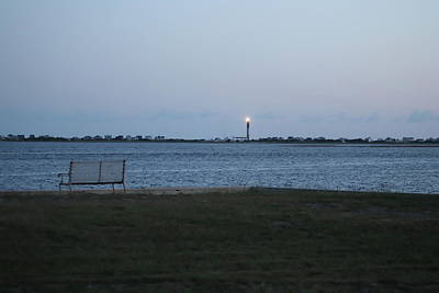Unicorn Dust - Oak Island Lighthouse At Sunset by Cathy Lindsey