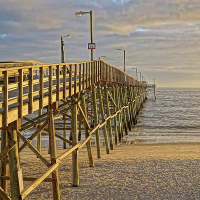 Photograph - Oak Island Pier by Don Margulis