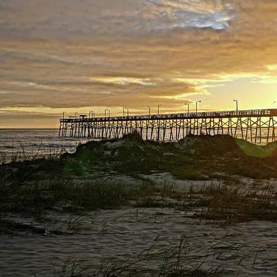 Photograph - Oak Island Pier Sunset by Don Margulis