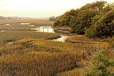 Photograph - Oak Island Waterway by Don Margulis