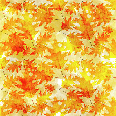 Mixed Media - Oak Leaf Pattern by Christina Rollo