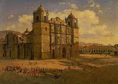 Painting - Oaxaca Cathedral by Jose Maria Velasco Gomez