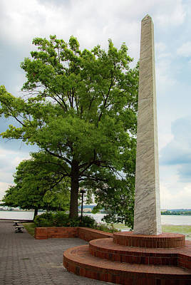 Photograph - Obelisk In Tide Lock Park by Lora J Wilson