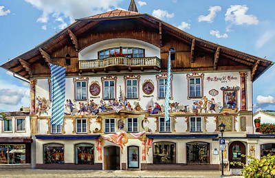 Photograph - Oberammergau Guest House by Anthony Dezenzio