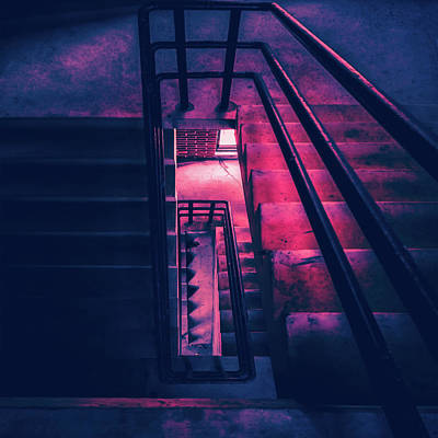 Photograph - Oblong Stairwell  by Bob Orsillo