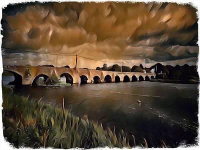 Vintage Uk Posters - OBriens Bridge by Mark Callanan