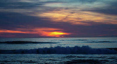 Art Print featuring the photograph Obx Sunrise by Lora J Wilson