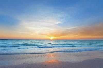 Photograph - Ocean Beach Sunset by Benedek
