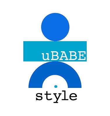 Digital Art - Ocean Blue Babe by Ubabe Style