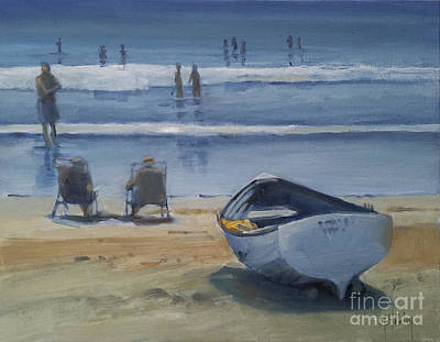 Painting - Ocean City Rowboat by Mary Hubley