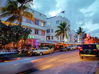 Photograph - Ocean Drive. Miami Beach by Luis Castaneda Inc.
