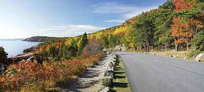 Otter Wall Art - Photograph - Ocean Drive Road Panorama, Acadia by Picturelake
