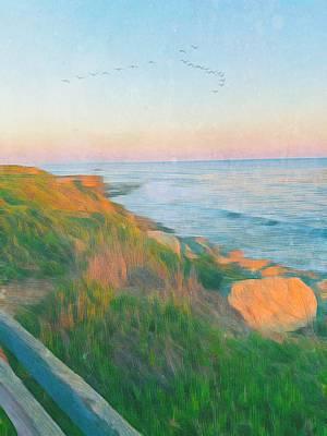 Comic Character Paintings - Ocean Evening by Hetty C de Cossy