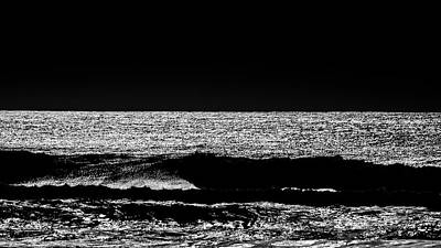 Photograph - Ocean In Black And White 1 by Jorg Becker