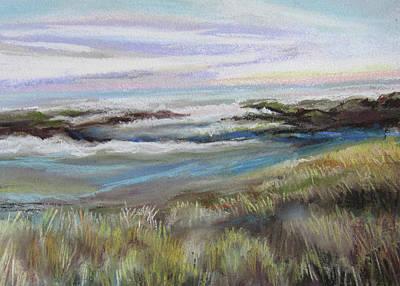 Pastel - Ocean Marshes by Jean Batzell Fitzgerald