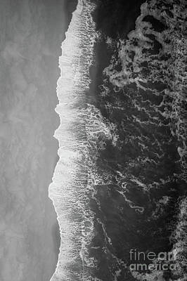 Photograph - Ocean Meets Land Bw by Michael Ver Sprill