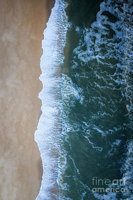 Photograph - Ocean Meets Land  by Michael Ver Sprill