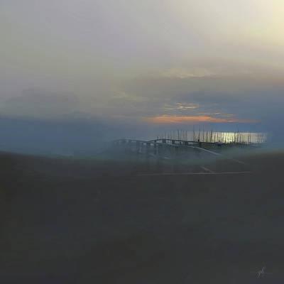 Digital Art - Ocean Mist by Gina Harrison