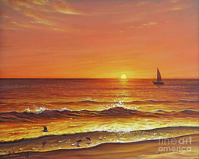 Painting - Ocean of Fire by Joe Mandrick