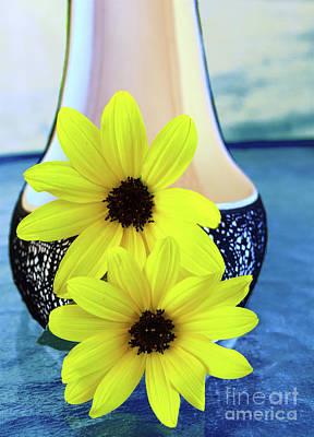 Photograph - Ocean Blue Flower Shoe by Sherry Little Fawn Schuessler