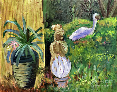 Painting - Ocean Ridge Garden by Donna Walsh