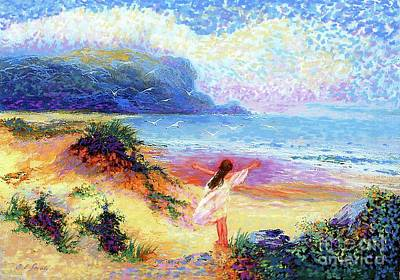 Impressionism Paintings - Ocean Song by Jane Small