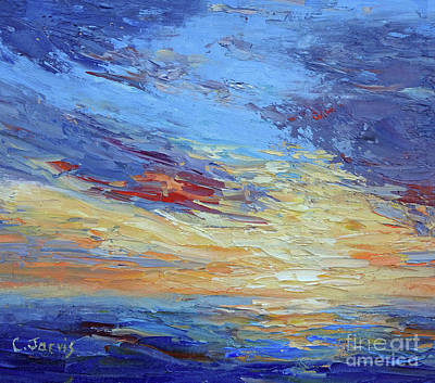 Painting - Ocean Sunset by Carolyn Jarvis