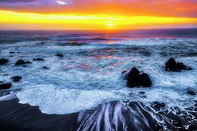 Photograph - Ocean Sunset Sonoma Coast by Garry Gay