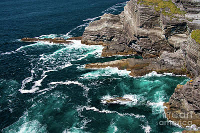 Portmagee Wall Art - Photograph - Ocean Waves At Kerry Cliffs One by Bob Phillips