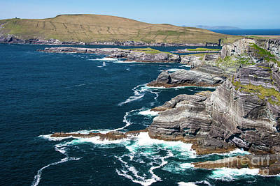 Portmagee Wall Art - Photograph - Ocean Waves At Kerry Cliffs Two by Bob Phillips