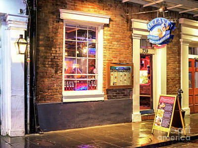 Photograph - Oceana Grill At Night New Orleans by John Rizzuto